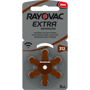 Baterie do sluchadel - Rayovac Extra Advanced Mercury Free 312