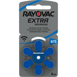 Rayovac Extra Advanced Mercury Free 675 baterie