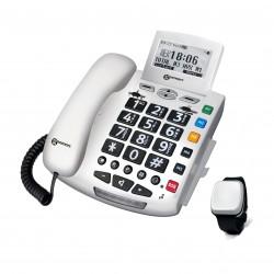 Zesílený telefon Serenities s hlásičem pádu