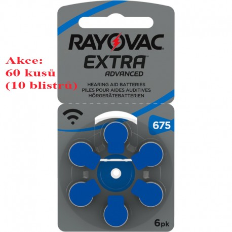 Baterie do sluchadel - Rayovac 675 - 60 kusů