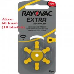 Baterie do sluchadel - Rayovac 10 - 60 kusů